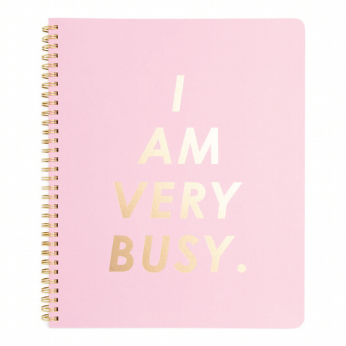ROUGH DRAFT LARGE NOTEBOOK - I AM VERY BUSY, CARNATION (노트)